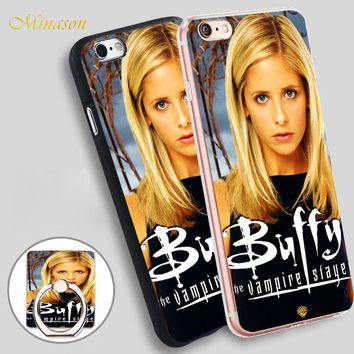 Minason GOP buffy the vampire slayer Mobile Phone Shell Soft TPU Silicone Case Cover for iPhone X 8 5 SE 5S 6 6S 7 Plus