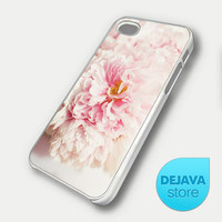 Like Yesterday Pink Peonies Aqua Flower iPhone 5 Case