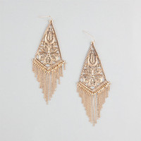 Full Tilt Filigree Diamond Fringe Earrings Gold One Size For Women 23727962101