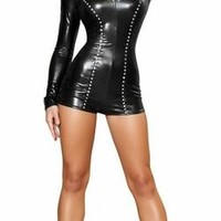 Sexy Black Panther Hero Romper Halloween Costume