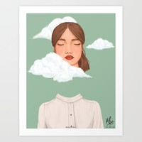 Head in the Clouds Art Print by marylobs