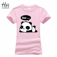 New Lovely Panda Print T shirt Women Cool Punk Animal Fashion Short Sleeve T-shirts for women Cute Tops Tees