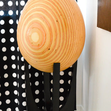 Le Egg- a large handmade recycled wood egg sculpture by FQ Studios