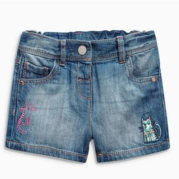 Hot Shorts 2018 New Brand Girl Short Pants Kids Jeans Spring And Summer Embroidered Bee Denim  Girls Special Offer Fashion AT_43_3