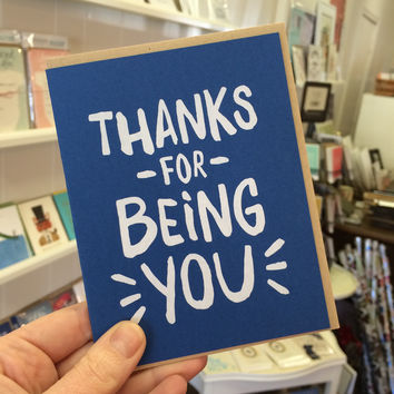 Thanks for Being You Card