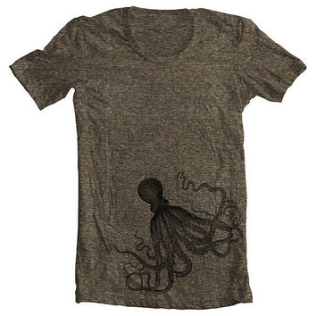 Unisex T shirt  OCTOPUS  Men's Women's by FullSpectrumClothing