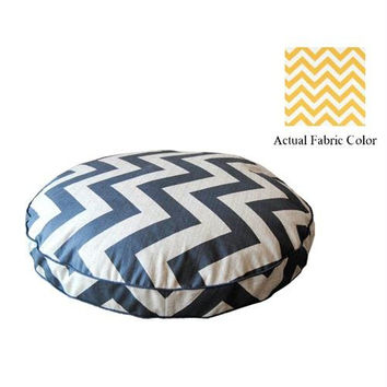 Medium Dog Bed - Yellow And White Chevron