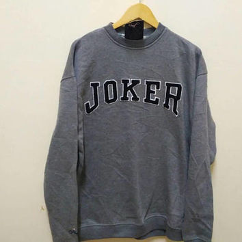 Deadstock Joker the original usa sweatshirt spellout casual big logo jumper hip hop vintage