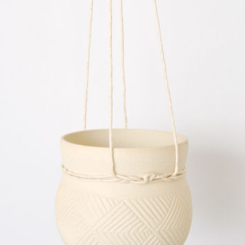 Cinched Hanging Planter