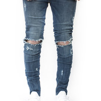 ESSENTIAL DENIM MID BLUE DISTRESSED | Wings Of Liberty