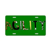 Fuzzy Agility Aluminum License Plate> Fuzzy Agility> Weasel Puppy's Flyball and Dog Stuff