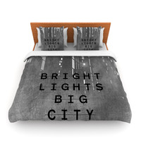 "Alison Coxon ""Bright Lights"" Dark City Lightweight Duvet Cover"