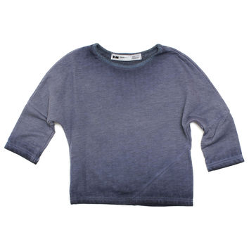 Denim Wash Long Sleeve Tee