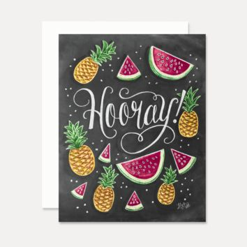 Hooray Celebration Card - A2 Note Card
