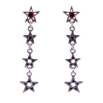 2017 New Women Geometric Gothic Stud Earrings Cool Rock Punk Earring Vintage Style Jewelry Pentagram Pentacle Pagan Wiccan Gift