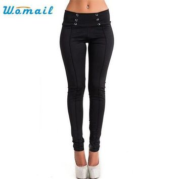 PEAPGC3 Womail Dancing Poppy 2017 New Style Women High Waist Skinny Stretch Pencil Short Pants Long Slim Trousers