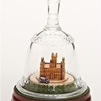 "8.75"" Downton Abbey Battery Operated Animated Musical Bell Jar Table Top Decoration"