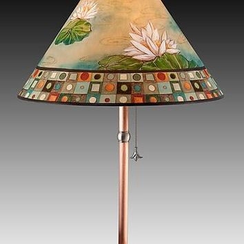 Lily Mosaic Multi by Janna Ugone and Justin Thomas (Mixed-Media Table Lamp) | Artful Home