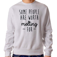 Some People Are Worth Melting 2372 Sweater Man and Sweater Woman