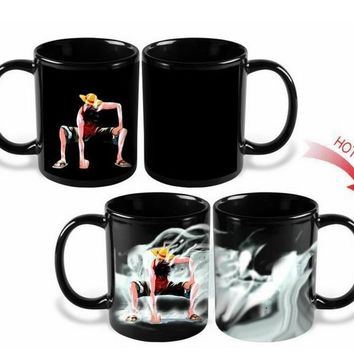 One Piece Luffy Heat Changing Coffee Mug Cup