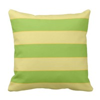 horizontal lines (yellow and green) throw pillow