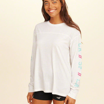 Girls Oversized Graphic Tee | Girls New Arrivals | HollisterCo.com