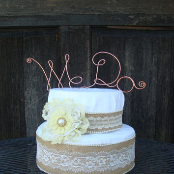 We Do Wire Cake Topper, Wire Cake Topper, Cake Topper Wedding, Rustic Cake Topper,Wire Wedding Topper,  Wedding Cake, Custom Cake Topper