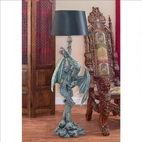 Deathsgate Marsh Dragon Floor Lamp - Design Toscano