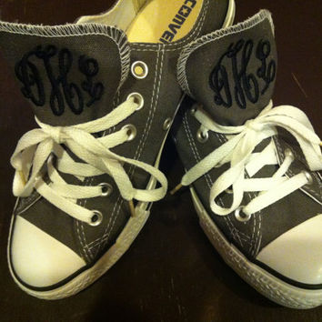 Monogrammed converse tennis shoes  by TheMonogrammingQueen on Etsy