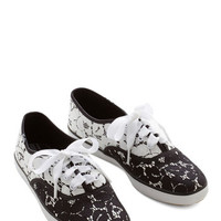 Keds Light on Your Feet Flat in Black, Cream