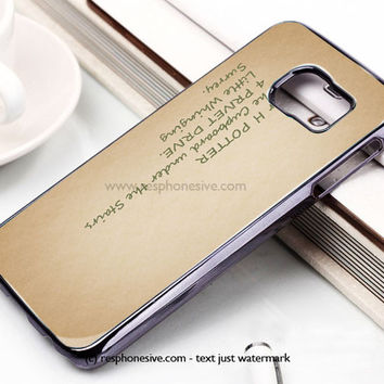 Harry Potter - Sirius Black Quote Samsung Galaxy S6 and S6 Edge Case