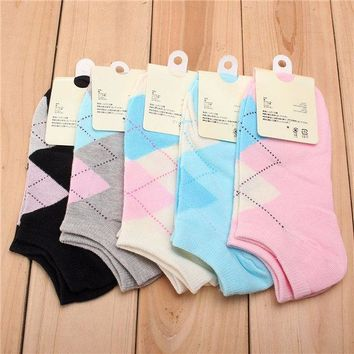 Womens Sports Casual Cute Heart Ankle High Low Cut Cotton Socks