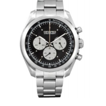 Orefici Vintage Chronograph Stainless Steel Black Dial Watch ORM16C4302