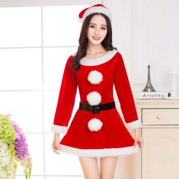 Christmas Costumes Sexy Fancy Red Dress Cosplay Costumes For Women