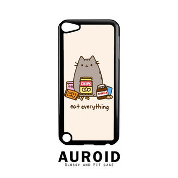 Pusheen The Cat Eat Every Thing iPod Touch 5 Case Auroid