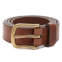 One Inch Flat Edge Leather Belt | American Apparel