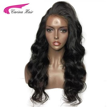 Carina Brazilian Remy Pre Plucked Lace Front Human Hair Wigs Black Women Body Wave Long Lace Wig With Baby Hair Natural Hairline