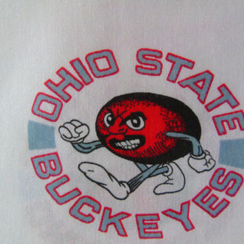OSU Ohio State Buckeyes Vintage Hard to Find Pattern Cotton Fabric Sold By the Yard OH Football Fans Crafts Projects