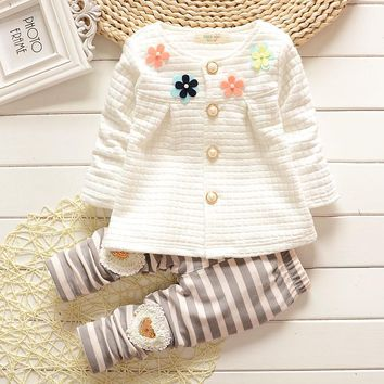 Baby Girl Clothes 2017 Spring Fashion Newborn Baby Girls Clothes Set Infant Girl Long Sleeve Clothing