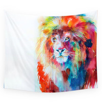 Society6 Lion Wall Tapestry