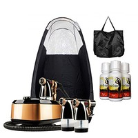MaxiMist Allure Xena HVLP Spray Tanning System with Pop Up Tan Tent Black