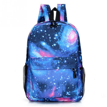 Multicolor Women Canvas Backpack Stylish Galaxy Star Universe Space Backpack Girls School Backbag Mochila Feminina 2017