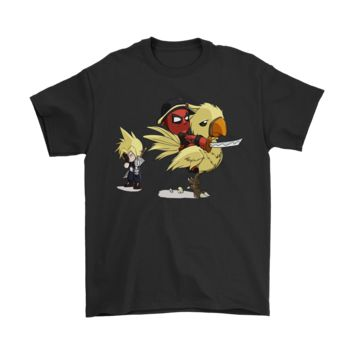 ONETOW Fantasy VII Deadpool Riding Chocobo Shirts