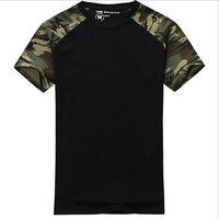 Man Casual Camouflage T-shirt Men Cotton Army Tactical Combat T Shirt Military Sport Camo Camp Mens T Shirts Fashion Tees