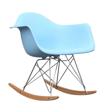Rocker Arm Chair, Light Blue ABS