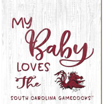 South Carolina Gamecocks | My Baby Loves | Sign | Wood | Rope Hanger | NCAA
