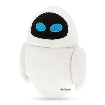 "Licensed cool NEW Disney Store 7"" EVE Wall-E Movie Girl mini bean bag beanbag plush toy doll"