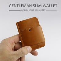 GENTLEMAN SLIM WALLET - DESIGN YOUR DAILY LIFE!
