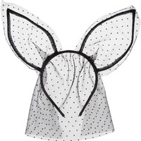 Maison Michel | Heidi point d'esprit veil and rabbit ears headband | NET-A-PORTER.COM