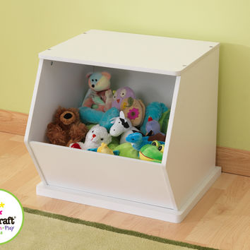 KidKraft Single Storage Unit - White - 14177